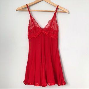 Red lace/mesh nightie dress